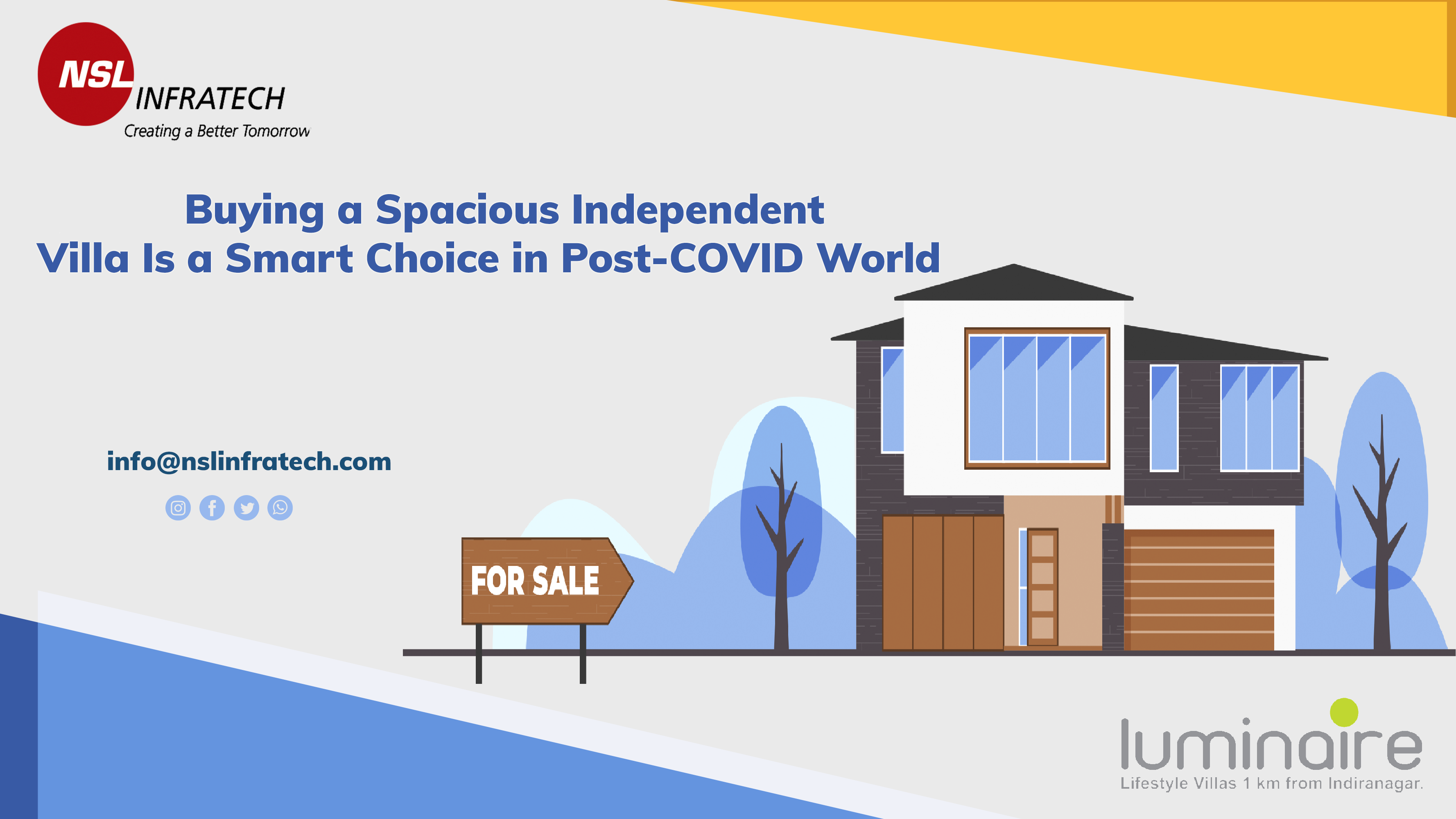 4 Reasons Why Buying a Spacious Independent Villa Is a Smart Choice in Post-COVID World