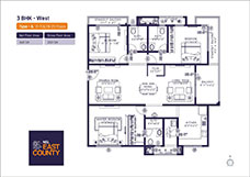 nsl east county 3 bhk flats for sale