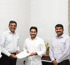 NSL Infratech contributed 1.5 crores to AP CM relief fund