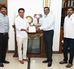 NSL Infratech contributed 1.5 crores to Telangana CM relief fund
