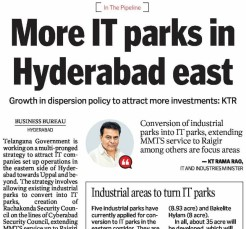 More IT Parks in Hyderabad East - KTR
